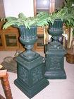Cast iron Planters w/ pedestals