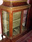 Oriental inlay curio cabinet