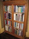 Glass front bookcase, Oak