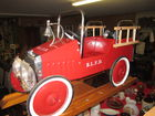 BUDDY L FIRE TRUCK PEDAL CAR