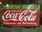 1930's Coca Cola Porc. Sign 4ft. x 8ft.