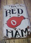 Rare Red Ham Tobaaco Tin Sign