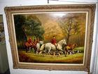 Large Hunt Scene, oil on canvas