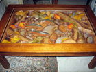 William Harrick carved trout table