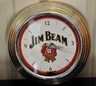 Jim Beam battery clock