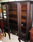 Mahog china cabinet, side glass