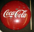 36 inch Coke button, vintage