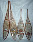 Authentic antique snowshoes