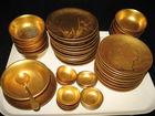 49 pcs Gold Lacquerware