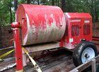 Gas powered cement mixer