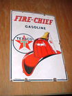Porcelain Fire Chief Pump Sign
