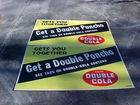 Large Double Cola Poncho Signs