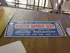 Old Master Barber Shop Sign