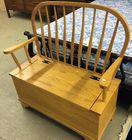 Pine bench w/ storage