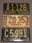 300+ SC Auto Plates 1924-1998