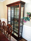 Wide glass curio/china cabinet
