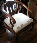Animal print upholstered chair