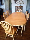 7 Pc Butcher block oak dining set