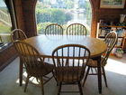 Oval Oak dinette set