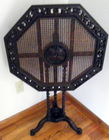 Tilt top rattan table