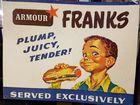 Armour Franks Hotdog Ad Sign