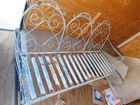 Early Ornate Metal Porch Set
