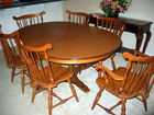 Cherry dining table, 5 chairs