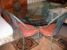 Glasstop dining set