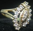 Diamond ring, 14kt gold