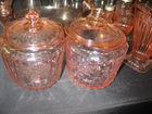 Pink depression jars