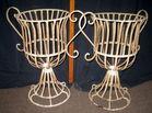 Wire planter baskets