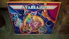 Atarians pinball machine backglass