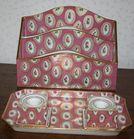 Dresden porcelain desk pieces