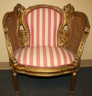 Pair of Gilt caned chairs