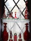 Group of Red Glass including cecanters