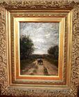 Oil on canvas cart on path