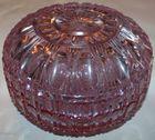 Lavender color cut covered jar