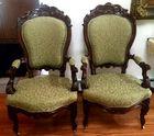 Pr. cvd Victorian armchairs
