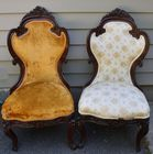 Pr. rosewood Belter style chairs