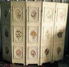 Floral painted screen