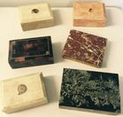 6 Marble boxes