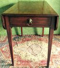 Pembroke table with lion pull