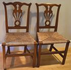 2 Country Chippendale chairs