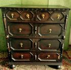 Wm  Mary chest with teardrop pulls