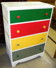 Primary colors chest of drawers