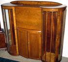 English WSalnut curio cabinet