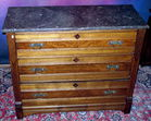 Marble top Pecan chest