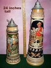 24 inch tall German stein