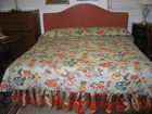 King size padded headboard bed