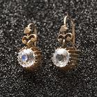 ROSE GOLD/WHITE SAPPHIRE EARRINGS